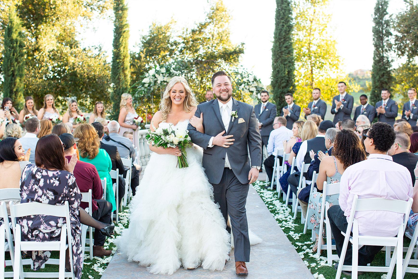 Beautiful garden ceremony - Vellano - Chino Hills, California - San Bernardino County - Wedgewood Weddings