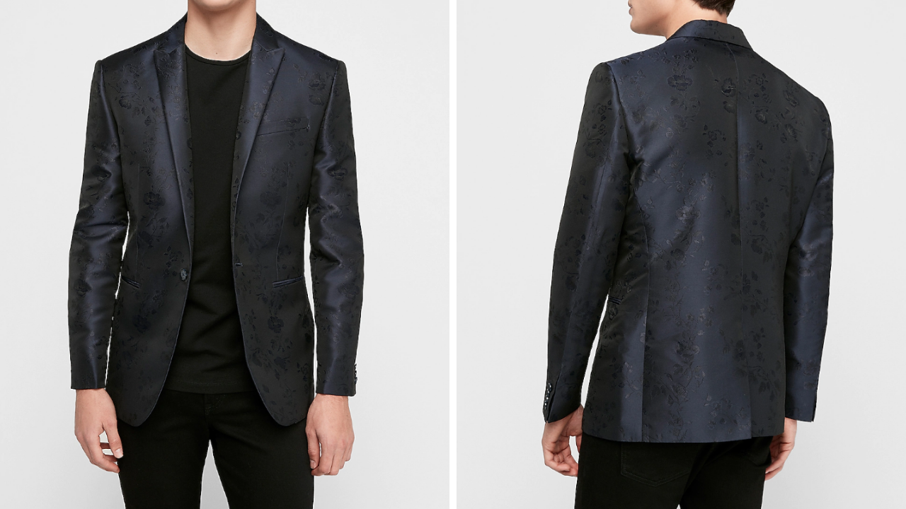 Brocade suit jacket for grooms