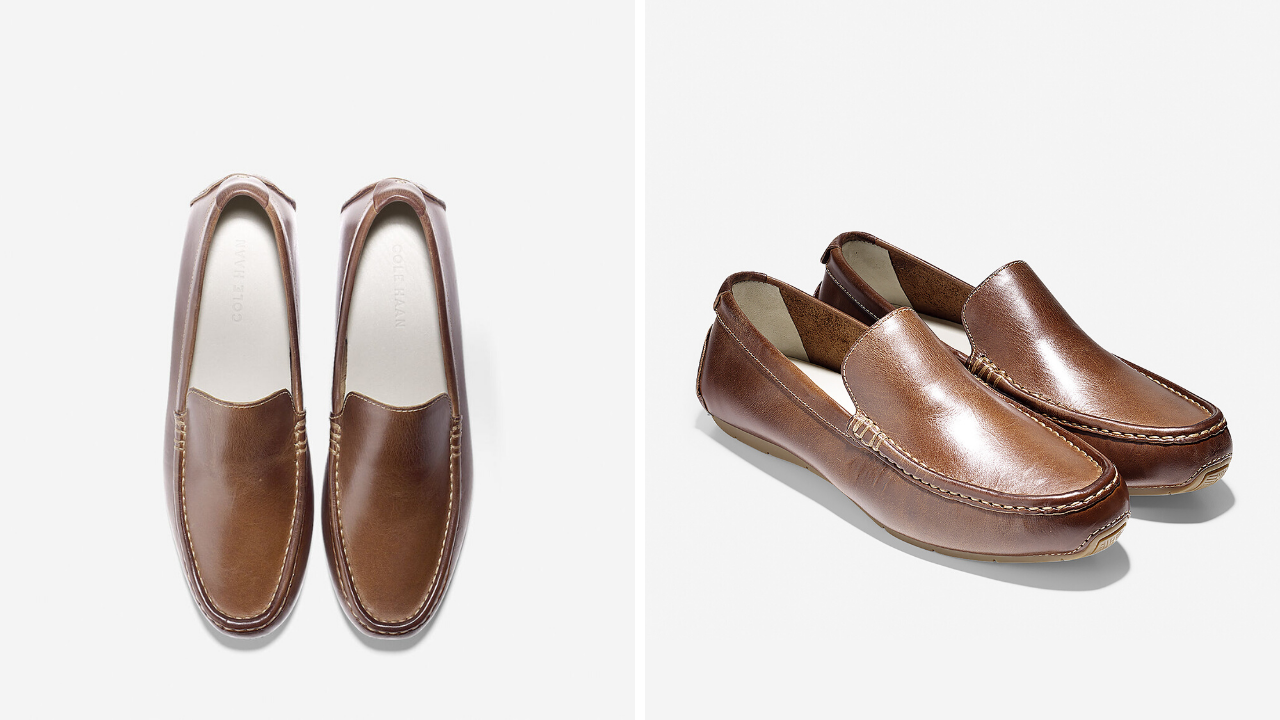 Men's leather loafers for grooms and groomsmen