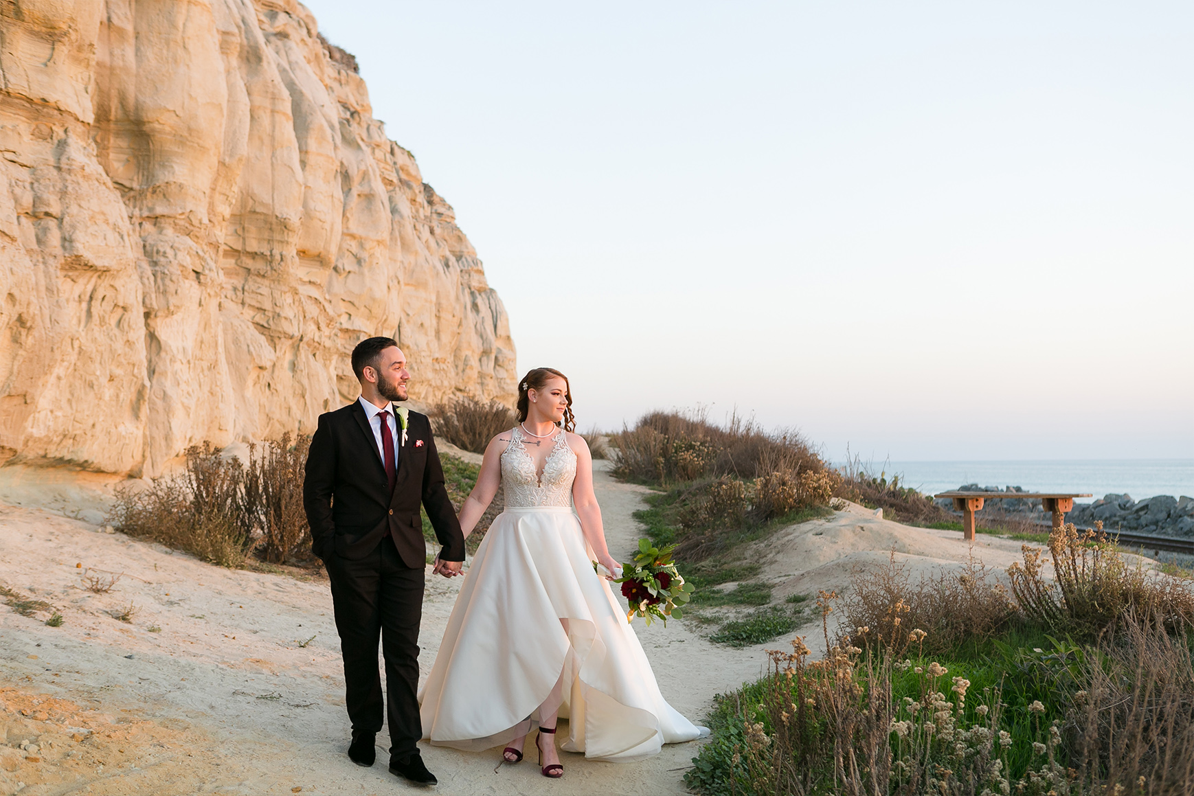 Couple on the beach - San Clemente - San Clemente, California - Orange County - Wedgewood Weddings