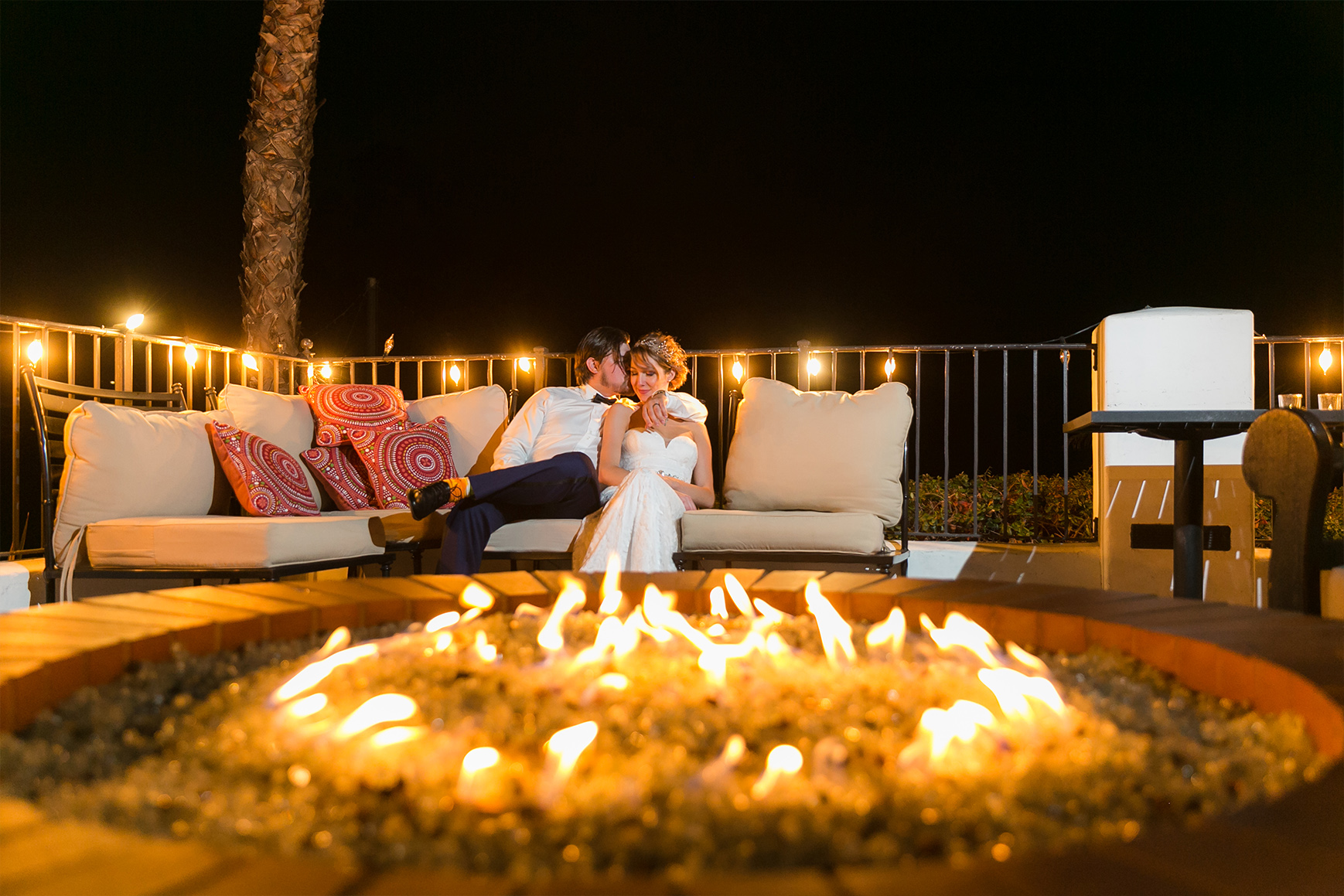 Fireside romance - San Clemente - San Clemente, California - Orange County - Wedgewood Weddings