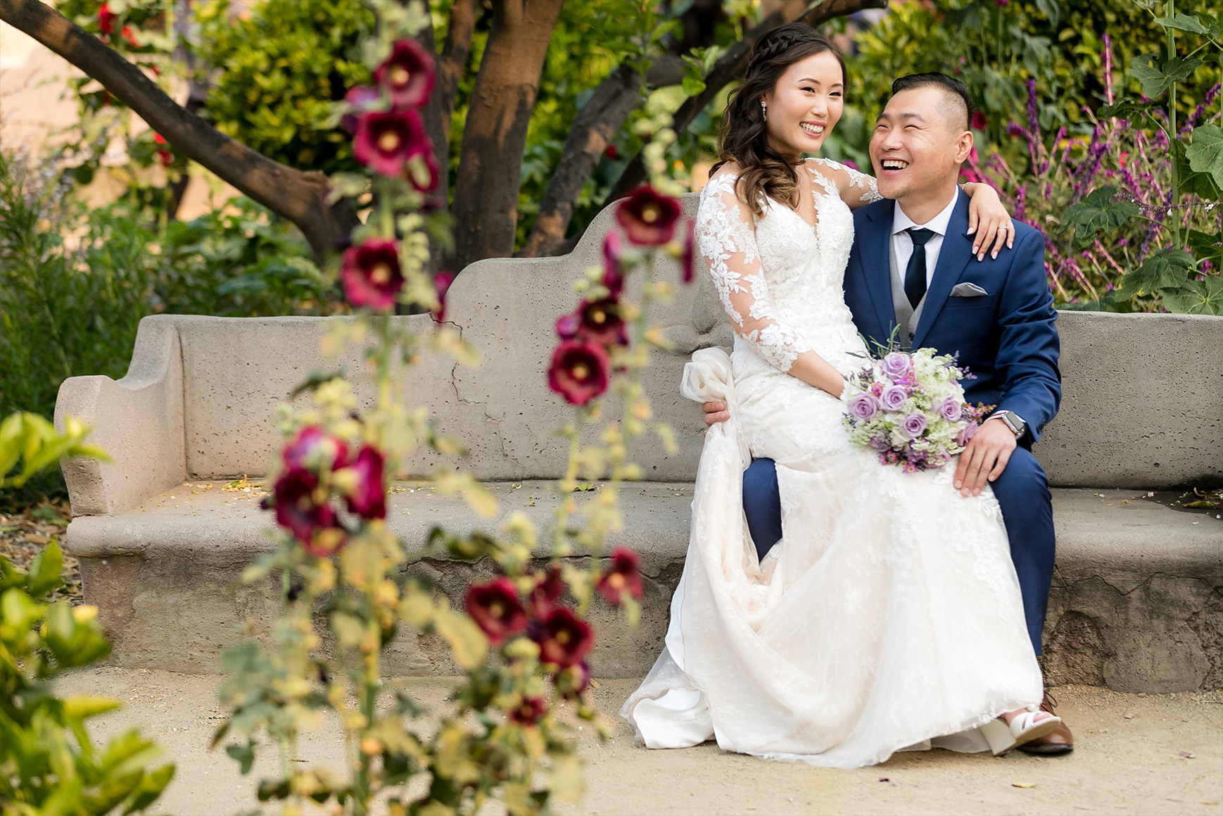 Romantic couple with red roses - San Clemente - San Clemente, California - Orange County - Wedgewood Weddings