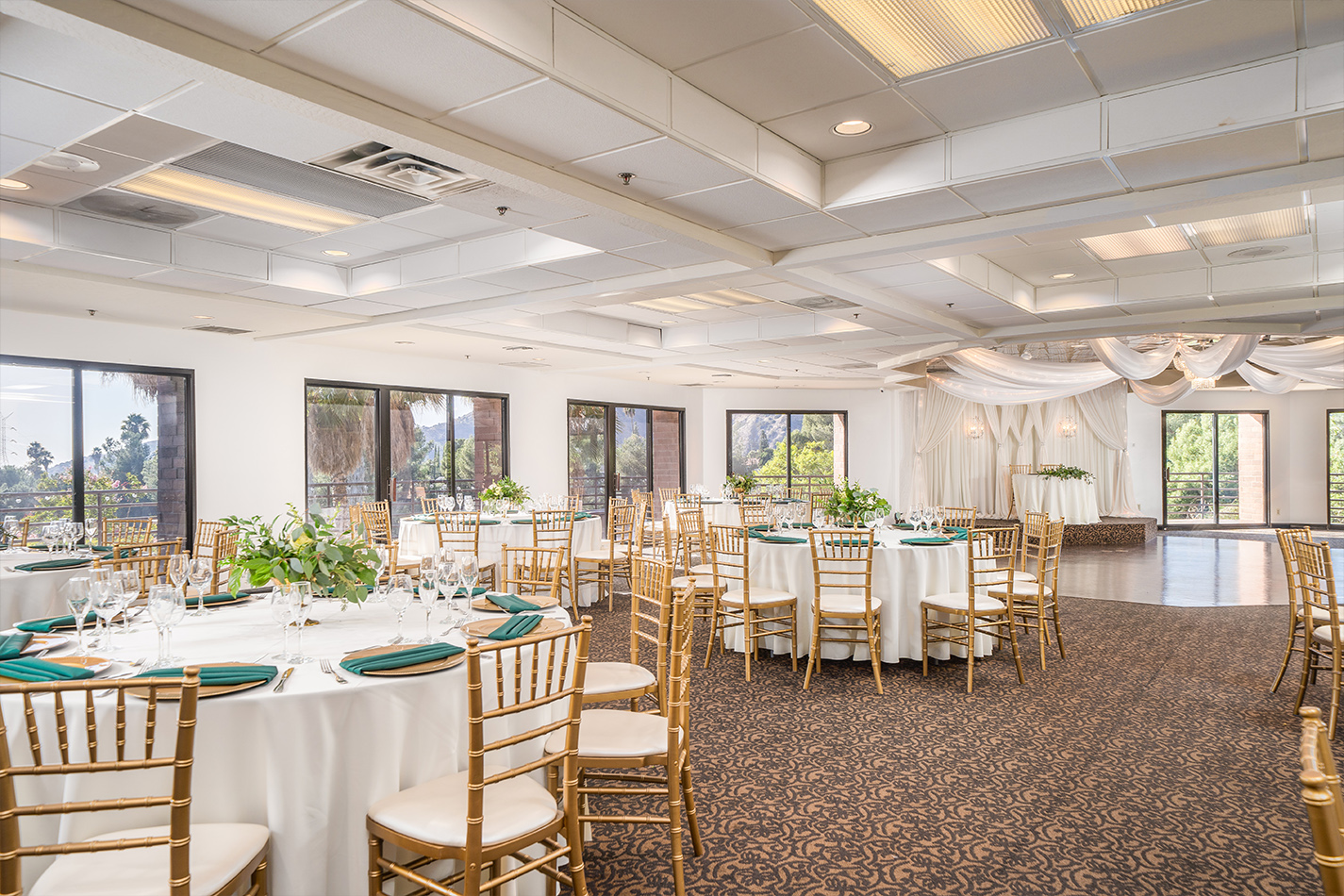 Banquet room - Sierra La Verne - La Verne, California - Claremont Area - Los Angeles County - Wedgewood Weddings