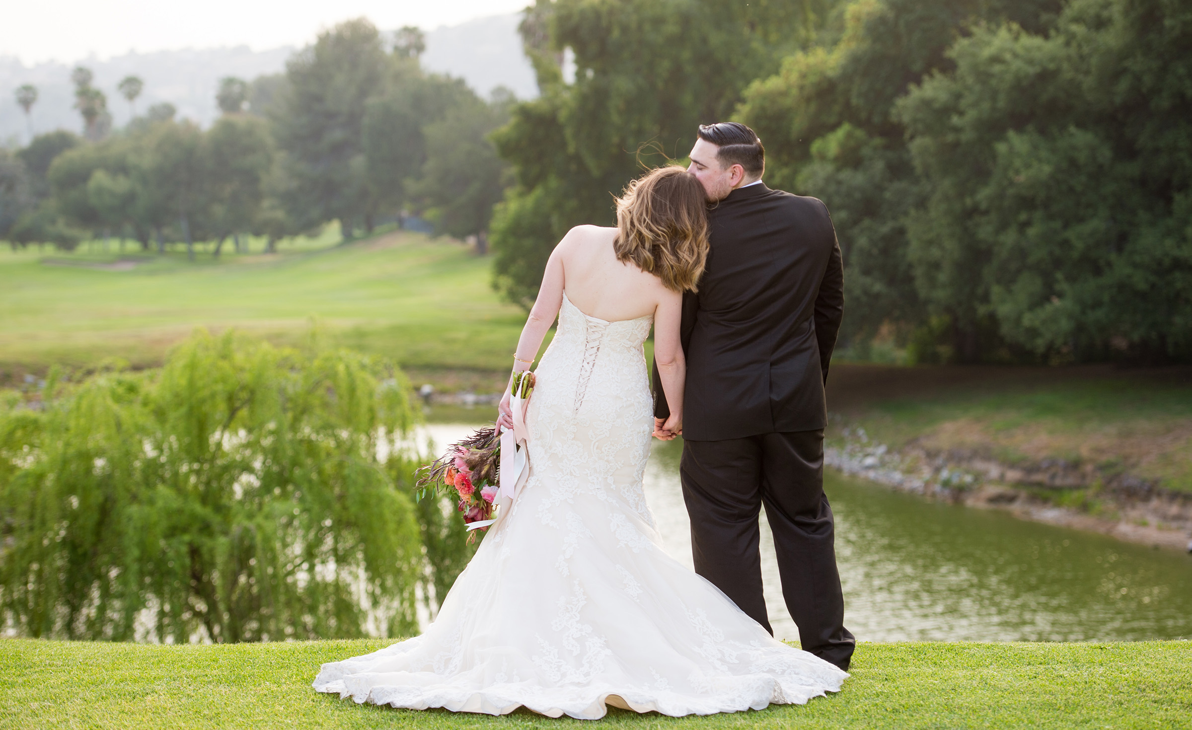 Pond overlook photo opportunity - Sierra La Verne - La Verne, California - Claremont Area - Los Angeles County - Wedgewood Weddings