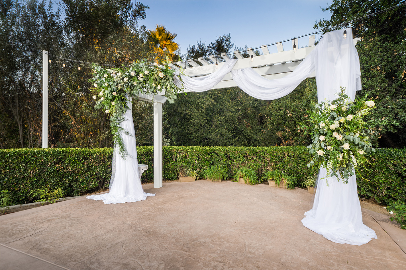 Ceremony arbor - Sierra La Verne - La Verne, California - Claremont Area - Los Angeles County - Wedgewood Weddings