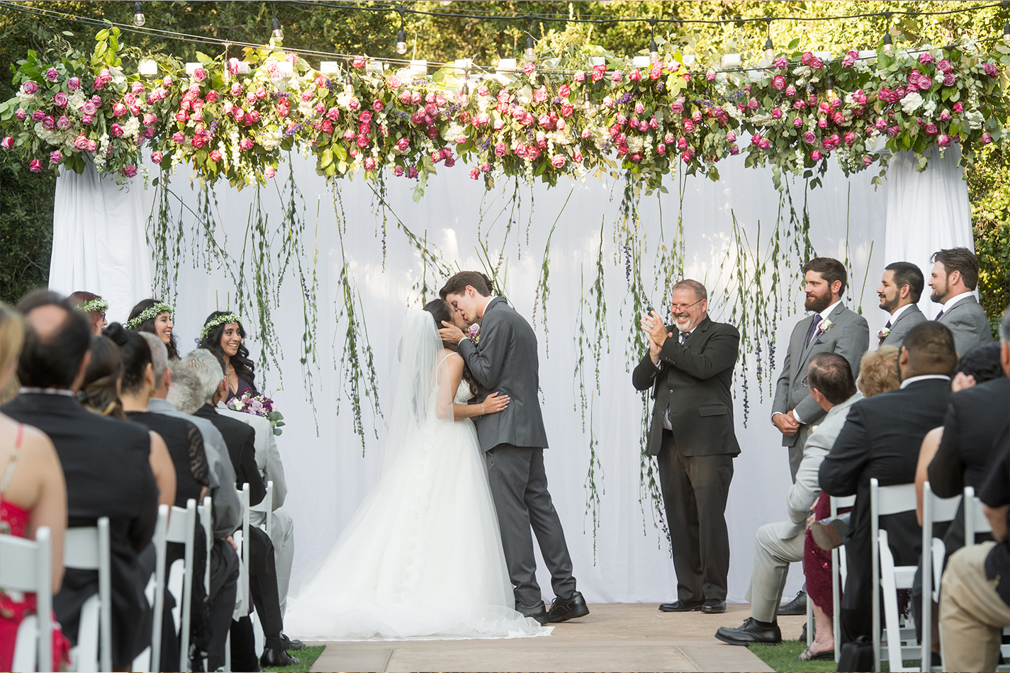 Ceremony kiss - Sierra La Verne - La Verne, California - Claremont Area - Los Angeles County - Wedgewood Weddings