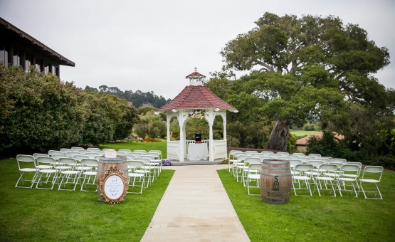 Rustic garden wedding ceremony - Carmel - Carmel, California - Monterey County - Wedgewood Weddings